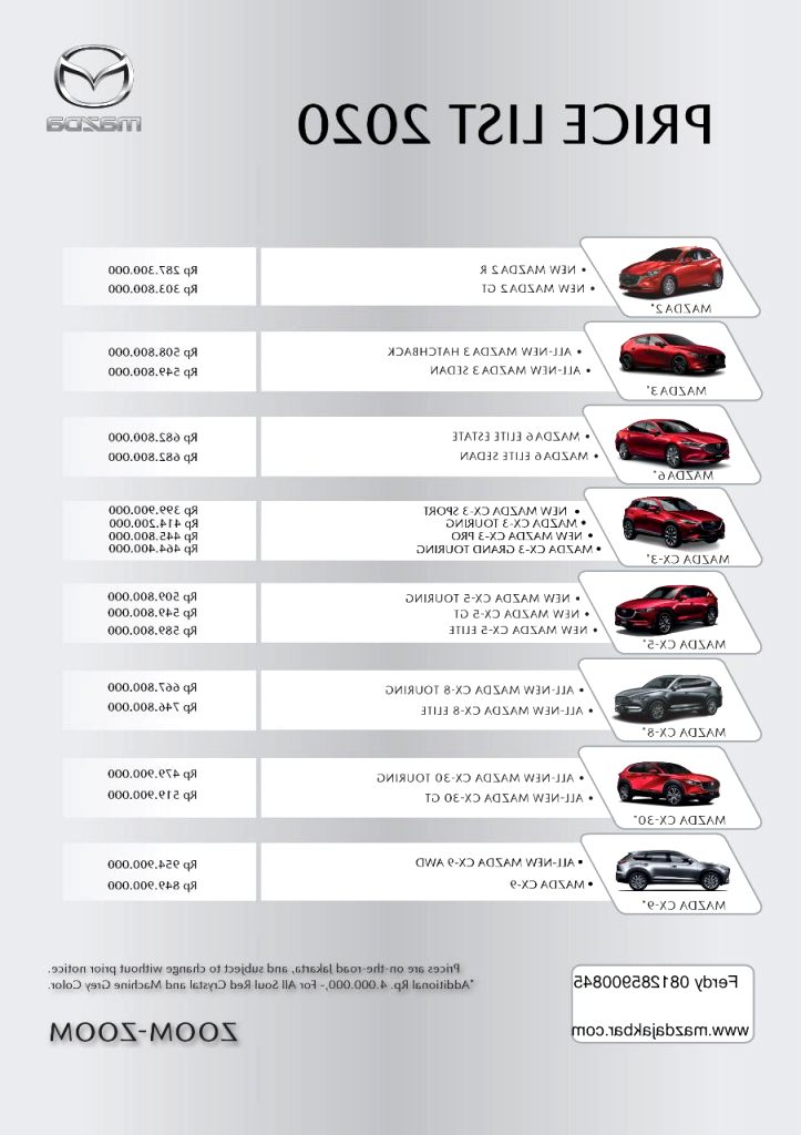 mazda price list 2020 Price and Release date