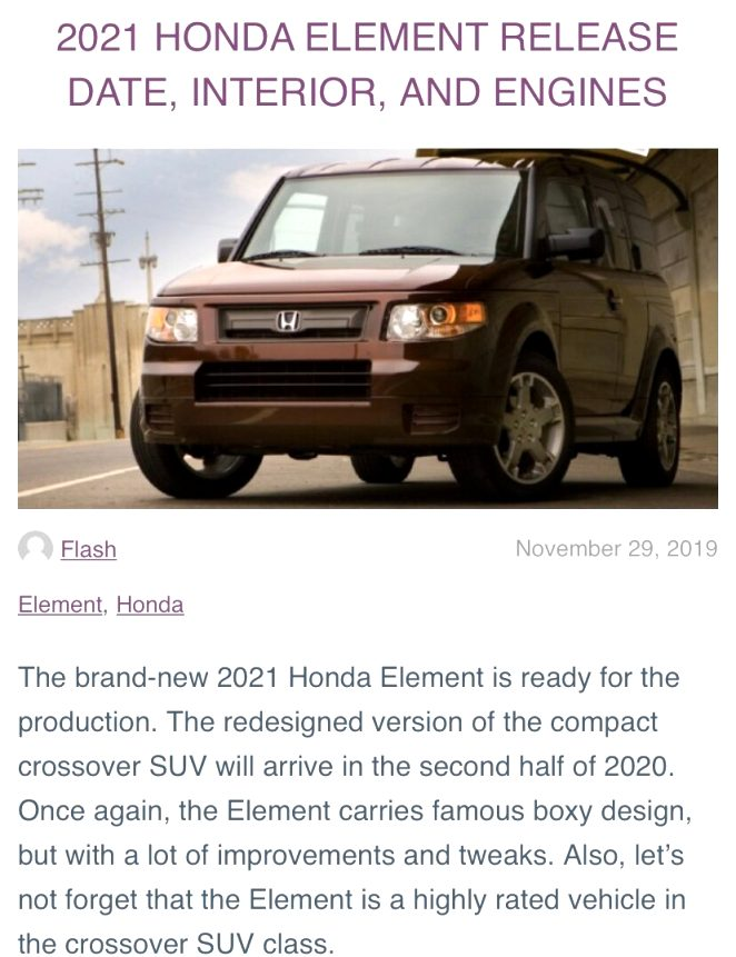 2021 honda element for sale Research New