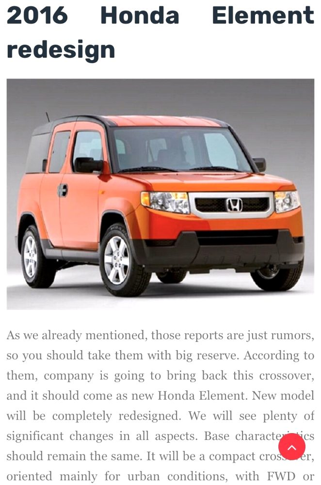 2021 honda element for sale Release Date