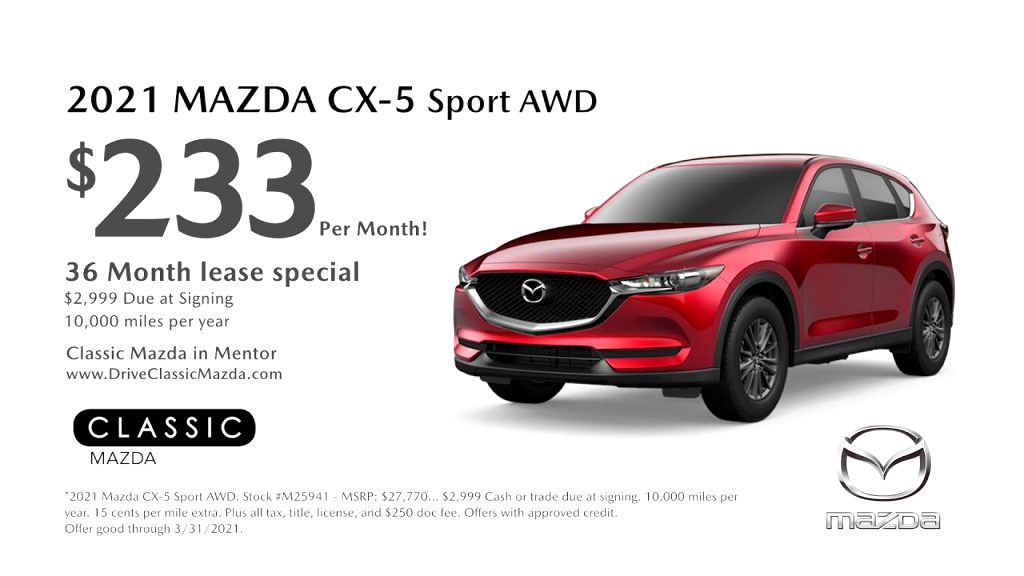 mazda lease deals 2021 New Model and Performance